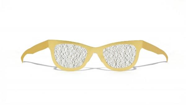 GOLDIE HORN - stylische gelbe upcycling Pappbrille