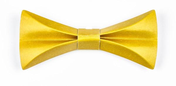 Pappfliege in gelb