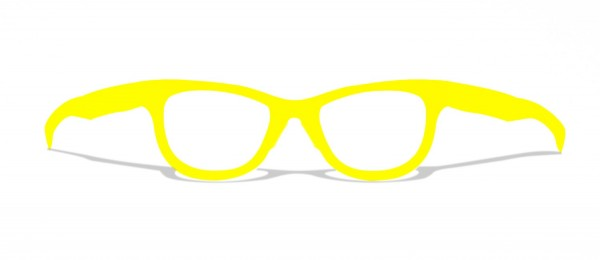 CLASSIC YELLOW - stylische gelbe upcycling Pappbrille
